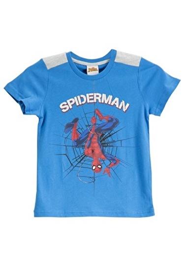 Spider-Man Spider Man Lisanslı Kırmızı Erkek Çocuk T-Shirt Mavi